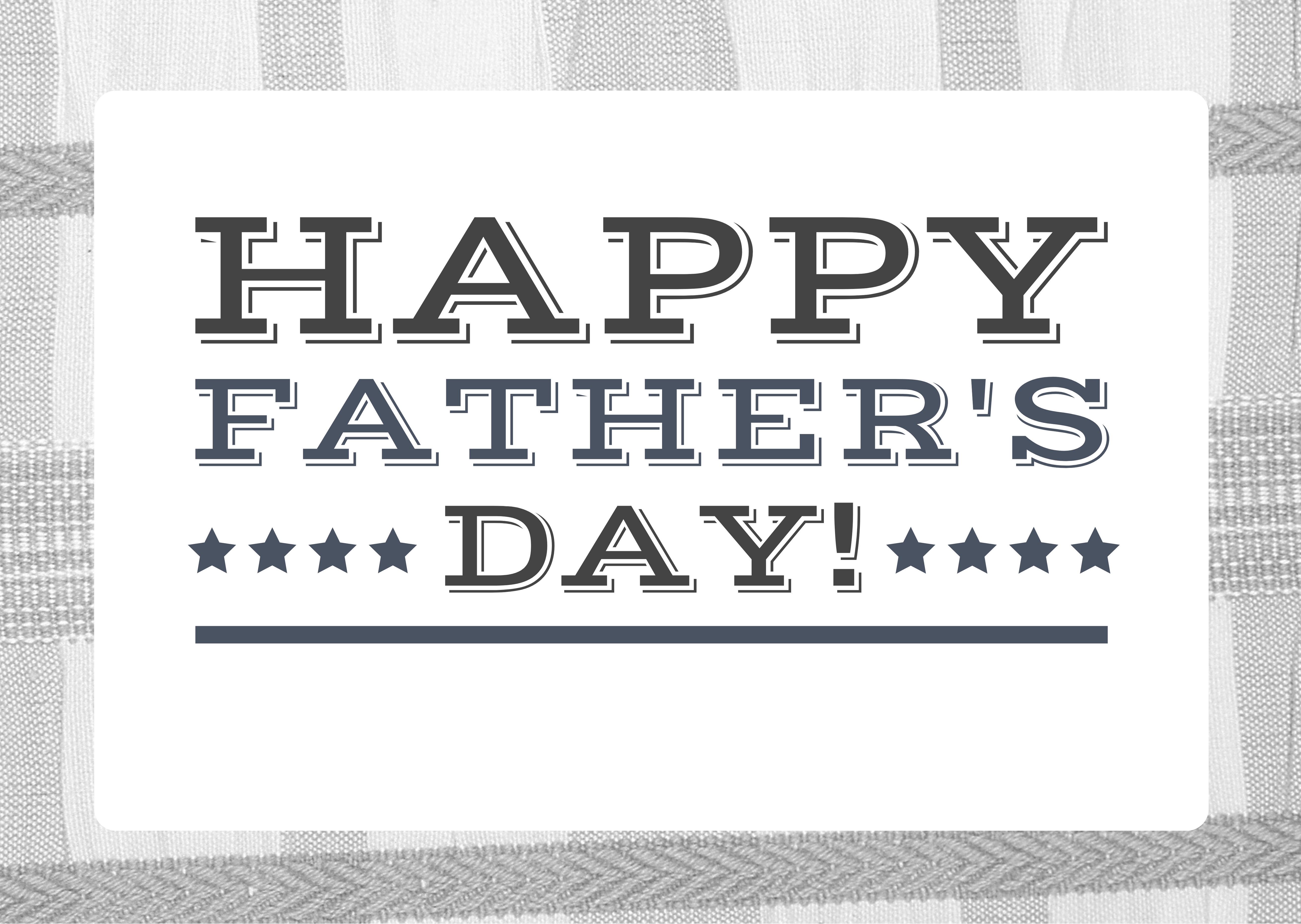 Greyscale Photo Father's Day Card